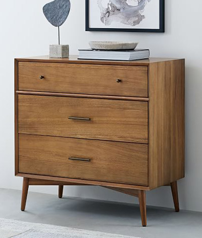 Mid-Century 3 drawer chest